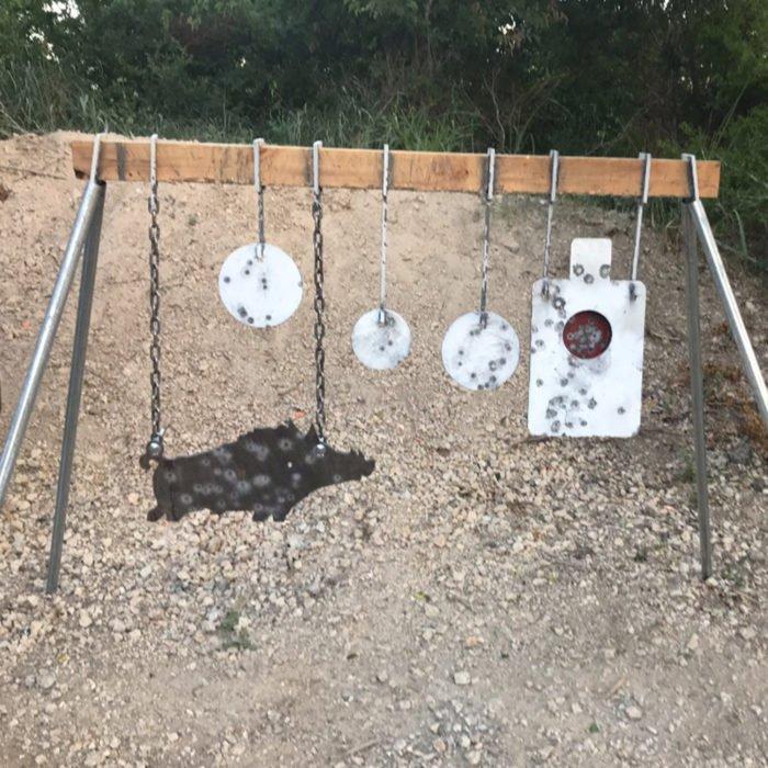 Range multi steel target