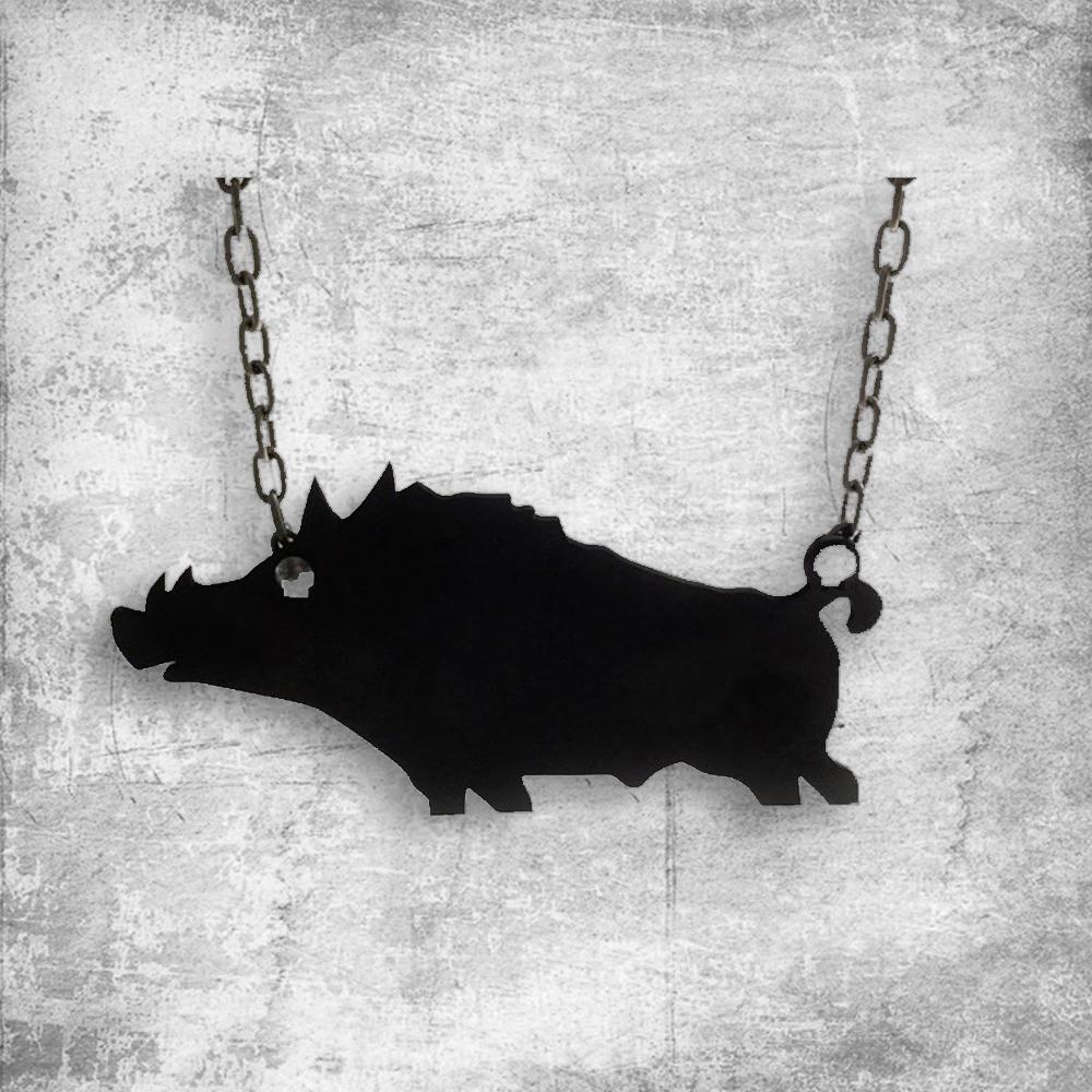 hog silhouette steel target
