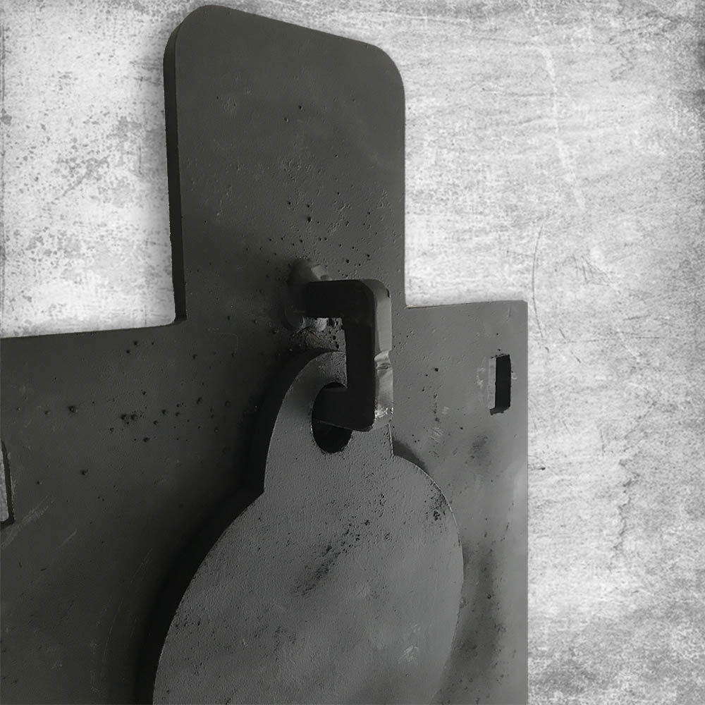 reactive steel target back