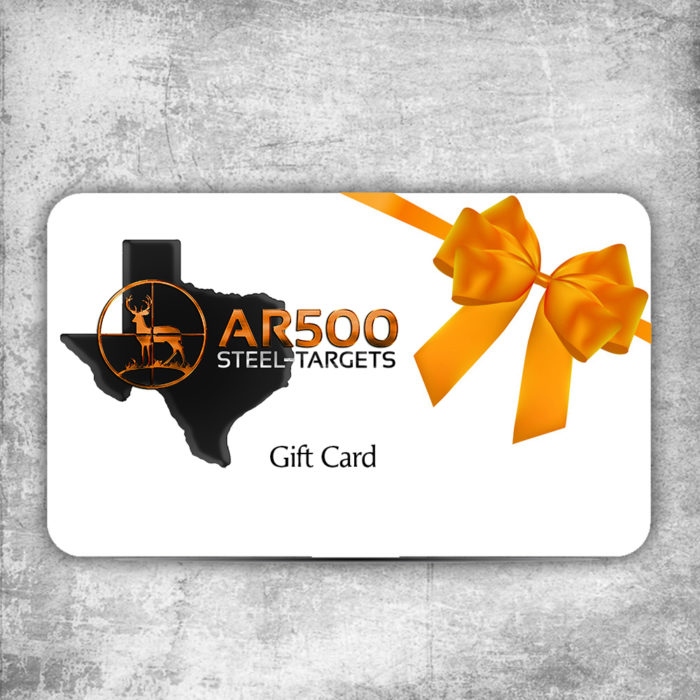 ar500 steel target gift cards